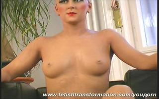 monika transformed like a puppet