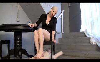 golden-haired dominatrix-bitch hawt footjob -