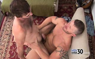 joe receives manhandled by meaty but gentle top