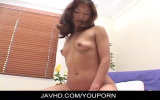 oriental playgirl gets hardcore rear fucking