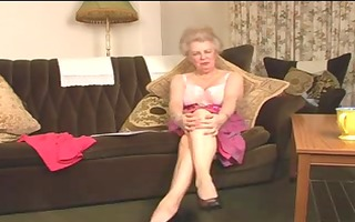 charming hairy old granny fingering intro