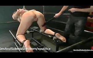 tied cali lakai booty and feet flogged by slaver
