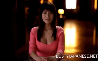 litle breasty japanese masturbating with sex tool