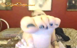 foot fetish a-hole shaking web camera show