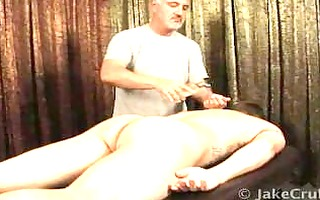 str massaged and surprised