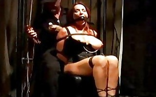 breasty cutie with mouthgag bondaged getting her