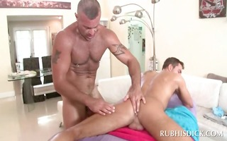 ass longing homo masseur having anal sex on his