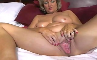 astonishing big tited mama masturbates