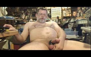 dad bob wanking in garage