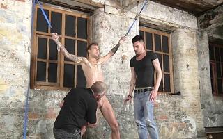 sadomasochism bondman lad bound up punished