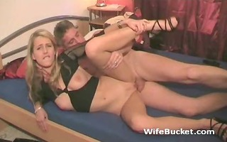 excited boy with younger wife