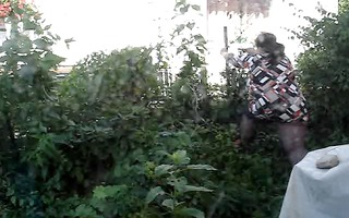 my big beautiful woman housewife with hose by work