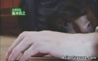 brunette asian lady ends up covered part5