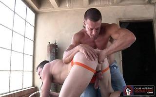 jackson is defenseless as tyler probes his ass