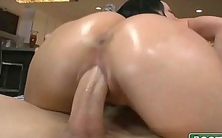brunette milf with giant love melons and large