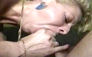 blonde mother engulf cock