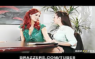 master redhead lesbo convinces her coworker to