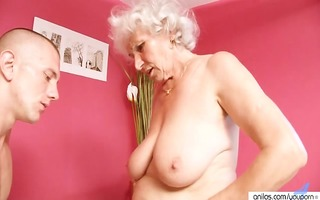 cougar granny copulates youthful cock