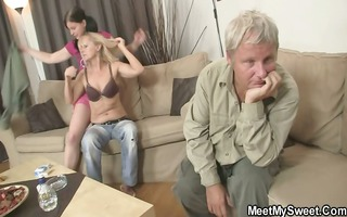 his parents and his gf acquire it is on